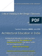 """Architectural Education and Its Manifestation in the Classroom"""