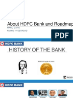 About HDFC Bank and Roadmap