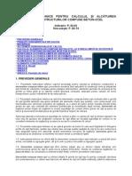 Instrucţiuni Tehnice Pentru Calculul Şi Alcătuirea Constructivă a Structurilor Compuse Beton