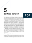 Surface Tension Contact Angle