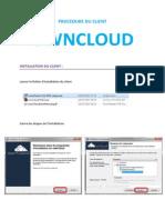 procdure du client owncloud