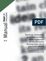Técnicas manuales instrumentales para el drenaje de secreciones bronquiales en el paciente adulto