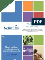 2008Marco Jurídico y Deontológico de la actividad documental