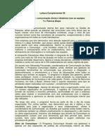 Leitura Complementar Comunicação Equipe