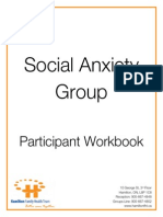 Social Anxiety Participant Workbook Revised April 2013