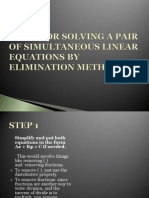 method of elimination