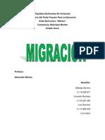 Formas de Migraciones