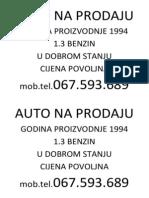 Auto Na Prodaju
