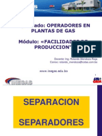 separadores trifasicos  horizontales y verticales de gas