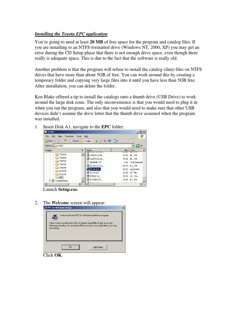 Toyota EPC Setup | Usb Flash Drive | Computer File