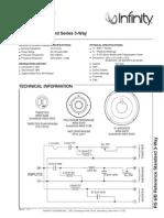 Infinity Rs-6 b 100w Speaker System Sm