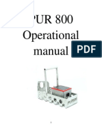 PUR 800 Operational Manual New