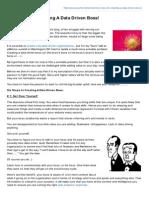 Kaushik.net-Six Rules for Creating a Data Driven Boss