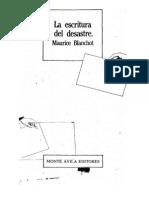 Maurice Blanchot - La Escritura Del Desastre