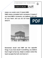 Islamic Studies Worksheet 2.1 Iman - The Faith of a Muslim