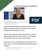 Far-right Wins Big in European Elections