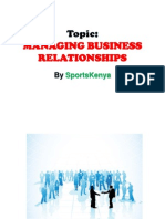 Key Accounts & Relationship Marketing - Topic - Managing Business Relationships