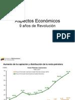9 años de Revolución   Gráficos de aspectos económicos