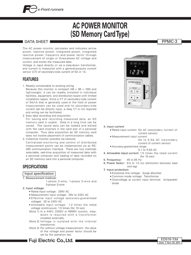 Eds10 73d Secure Digital Alternating Current Ac Power Monitor