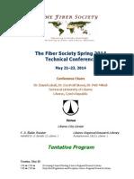 2014 04 23 Fiber Society Spring Program