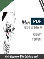 cartão Debora