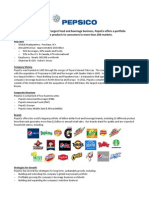 Pepsico Corporate Fact Sheet