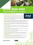 Food growing tips