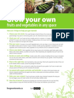 Food growing tips