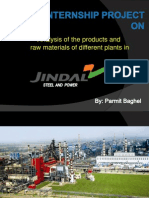 Summer Internship Project On Jindal Steel And Power