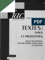 Adam, Jean-Michel (1992) Les Textes - Types Et Prototypes
