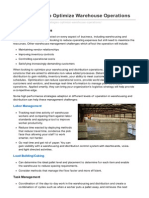 10 Strategies To Optimize Warehouse Operations