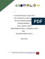 VI CONVENCIÓN COLECTIVA   2 DE ENERO 2.012