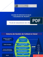 Plan de Seguridad Del Paciente