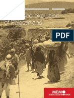 The forced expulsion of Palestinians