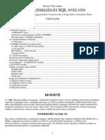 Adatbáziskezelés SQL nyelven