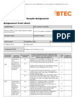 Pearson BTEC Level 5 HND Diploma in Health and Social Care Sample Assignment