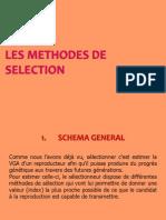 Les Methodes de Selection