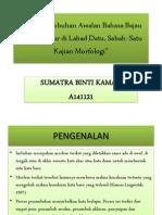 Proposal Methodology Research (Analisis Imbuhan Bahasa Bajau)