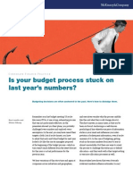 Is Your Budget Process Stuck on Last Years Numbers