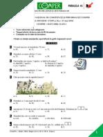 Matematica EtapaII 13-14 ClasaI