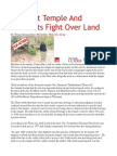 Buddhist Temple and Residents Fight Over Land