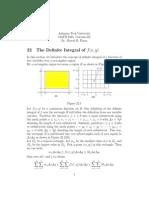 Cal161 the Definite Integral of f(x,y)