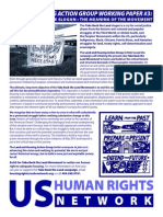 The Meaning of the Slogan. The Meaning of the Movement - Land and Housing Working Group Paper #3