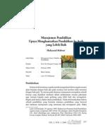 Book Review Manajemen Pendidikan Upaya Menghantarkan Pendidikan ke Arah yang Lebih Baik