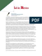 24-05-2014 El Sol de México - Infraestructura para el desarrollo.