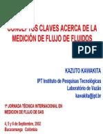 CONCEPTOS CLAVES ACERCA DE LA MEDICIÓN DE FLUJO DE FLUIDOS