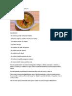 Sopa Creme de Batata e Cenoura