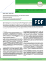 Rápida mejoría cognitiva en la enfermedad de Alzheimer después de administración periespinal con etanercept