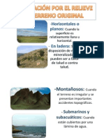Clasificación Por El Relieve Del Terreno Original