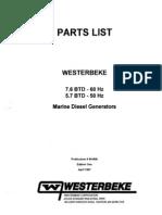 Westerbeake 7.6 Btd Parts List Edition 1